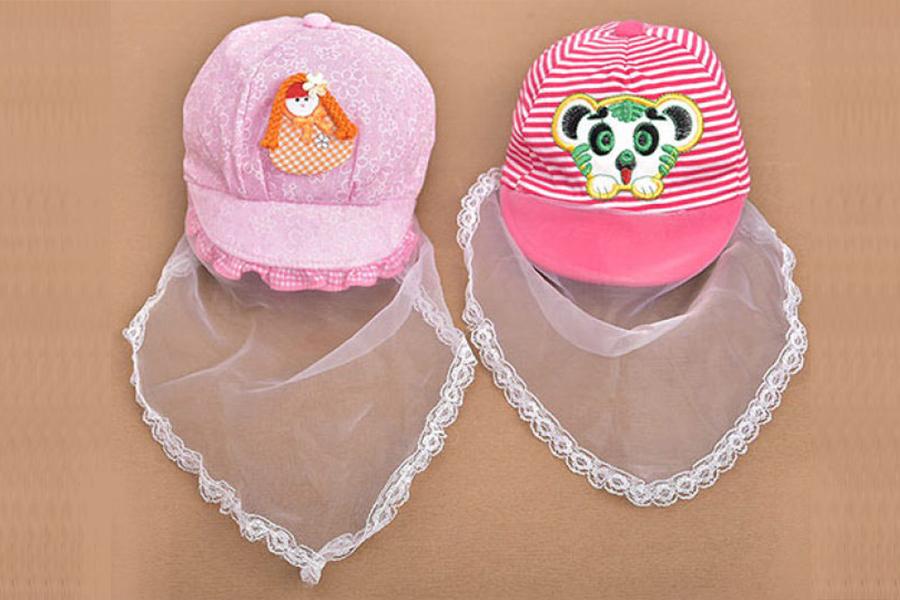 Quần áo cho trẻ sơ sinh trong mùa dịch Corona -Mũ lưới