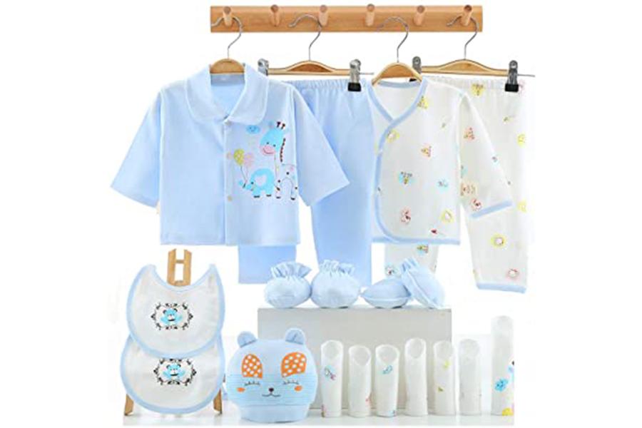 Xu hướng màu sắc quần áo trẻ em sơ sinh 2020 - Màu xanh da trời